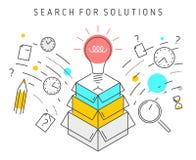 Suche nach Lösungen Lizenzfreie Stockfotos