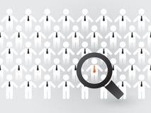 Suche nach passenden Angestellten Lizenzfreie Stockfotos