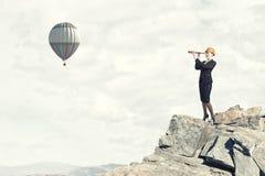 Suche nach Perspektiven! Lizenzfreies Stockbild