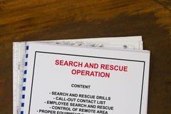 Suche und Rettungseinsatz Lizenzfreie Stockfotos