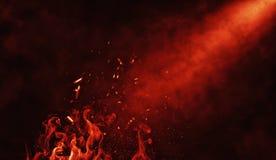 Suchego lodu dymnych chmur mgły podłogi tekstura Doskonalić pożarniczy cząsteczki spotight mgły skutek na odosobnionym czarnym tl royalty ilustracja