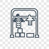 Suchego pojęcia wektorowa liniowa ikona odizolowywająca na przejrzystym backgroun royalty ilustracja