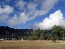Suchej trawy pole używać dla baseballa Zdjęcia Stock