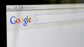 Suchen auf Google stock video