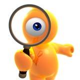 Suchen der Augenikone Stockfotos