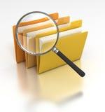 Suchen der Dateien Lizenzfreie Stockbilder