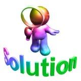 Suchen der Lösung Stockbild