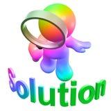 Suchen der Lösung Stockfotos