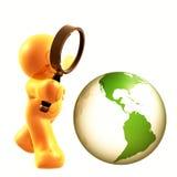 Suchen der Welt nach Antworten stock abbildung