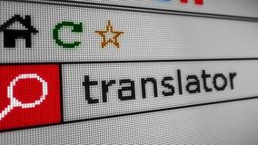 Suchen des Internet-Übersetzers stock video