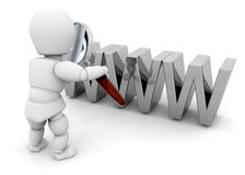 Suchen des Internets stock abbildung