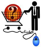 Suchen des Internets nach Antworten Lizenzfreie Stockfotos
