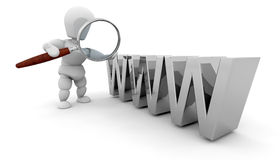 Suchen des Webs lizenzfreie abbildung