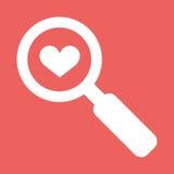 Suchen einer Liebe Stockbilder