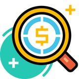 Suchen für Gelegenheiten LineColor-Illustration stock abbildung