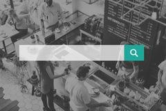 Suchen Graseninternet-des on-line-Vernetzungs-Kopien-Raum-Konzeptes stockfotografie