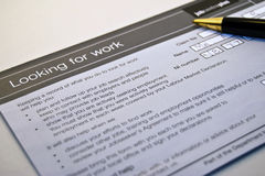 Suchen nach Arbeit Lizenzfreies Stockfoto