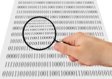 Suchen nach Daten Stockfotografie