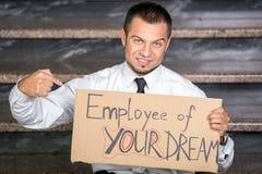 Suchen nach einem Job Stockbild