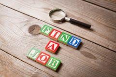 Suchen nach einem Job Lizenzfreie Stockbilder