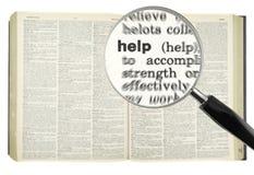 Suchen nach HILFE lizenzfreies stockbild