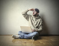 Suchen nach Ideen stockfoto