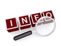 Suchen nach Info Lizenzfreie Stockbilder