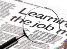 Suchen nach Job Lizenzfreie Stockbilder
