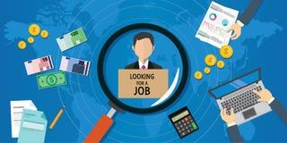 Suchen nach Job Lizenzfreies Stockfoto