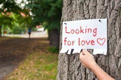 Suchen nach Liebe Stockbild