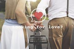 Suchen nach Liebes-Valentine Romance Heart Dating Passions-Konzept Stockbilder