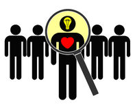 Suchen nach Verstand und Herzen Stockbilder