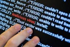 Suchen nach Virus Lizenzfreie Stockbilder