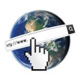 Suchen Sie das Internet Lizenzfreie Stockfotos