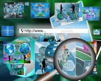 Suchen Sie das Netz Lizenzfreies Stockfoto