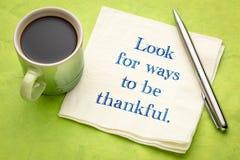 Suchen Sie nach Weisen, dankbar zu sein lizenzfreie stockbilder