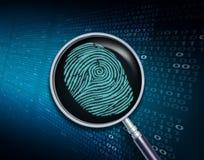 Suchen von privaten Informationen Stockbild