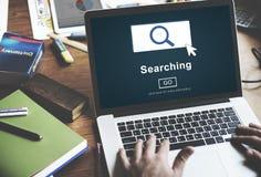 Suchen von SEO Homepage Navigation Information Concept Stockbilder