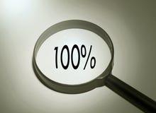 100% suchen zufrieden gestellt Stockbild