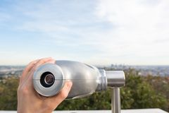 Sucher bei Griffith Observatory Stockfoto