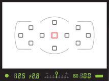 Sucher der digitalen Kamera des Reflexes der einzelnen Linse/DSLR stockfotos