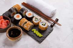 Suchi rolls set Stock Photo