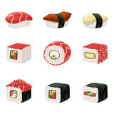 Suchi And Rolls Set Stock Photography