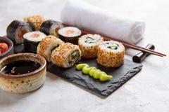 Suchi rolls set Stock Images