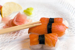 Suchi with sticks Stock Photography