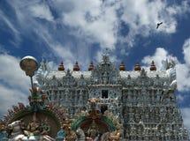 Suchindram świątynia dedykująca bóg Shiva, Vishnu i Brahma, Kanniyakumari, Południowy India fotografia stock