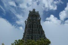 Suchindram świątynia dedykująca bóg Shiva, Vishnu i Brahma, Kanniyakumari, Południowy India zdjęcia stock
