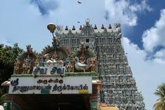 Suchindram świątynia dedykująca bóg Shiva, Vishnu i Brahma, Kanniyakumari, Południowy India obrazy stock