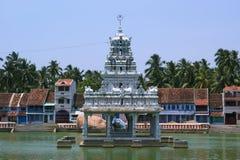 Suchindram świątynia dedykująca bóg Shiva, Vishnu i Brahma, Kanniyakumari, Południowy India obraz royalty free