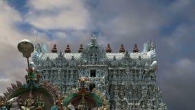 Suchindram tempel-- Kanniyakumari Tamil Nadu, södra Indien lager videofilmer